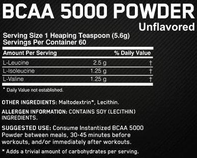 optimum-bcaa-5000-powder-facts