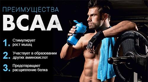 преимущества BCAA
